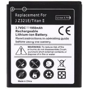 1950mAh vervangende batterij voor HTC J Titan II / Z321e