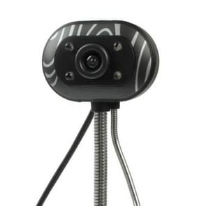5.0 Megapixels USB 2.0 Plug en Play PC Camera / Webcam met microfoon en 4 LED lampjes  kabel lengte: 1.2 meter