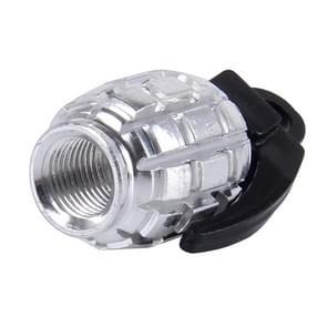 2 stk universeel granaat vormige fiets Tire Valve Caps(Silver)