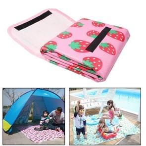 Aardbei patroon kinderen Game deken / Baby kruipende Pad / strand Mat picknick Mat Outdoor  grootte: 170cm(L) x 155cm(W)(Pink)