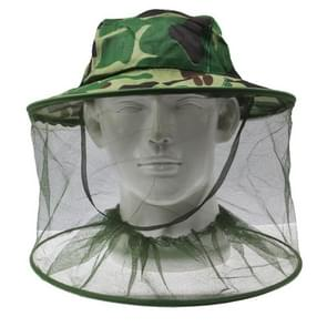 Outdoor Camouflage Insect weerstand Mesh hoofd Gezichtsbeschermer hoed / Cap Hengelsport