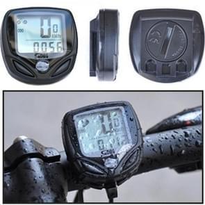 SD-548C 14 Function Black LCD Waterproof Wireless Multifunctional Bicycle Cycle Speedometer Bike Computer Odometer(Black)