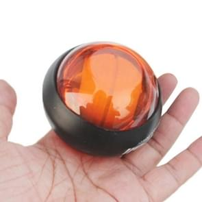 Gyroscopic Wrist Exercise Rotor Ball with LED Light for Fitness Ball(Orange)
