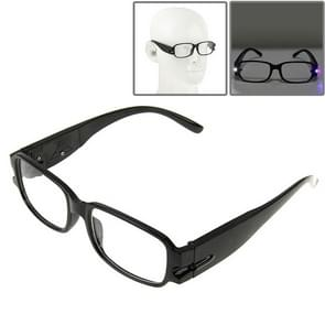 UV Protection White Resin Lens Reading Glasses with Currency Detecting Function  +1.50D