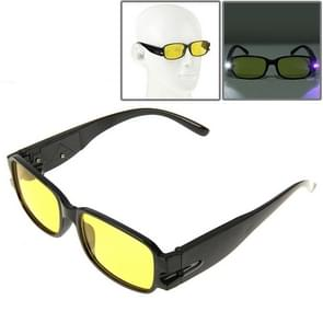UV Protection Yellow Resin Lens Reading Glasses with Currency Detecting Function  +4.00D