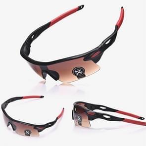Explosieveilig buiten fietsen sport Sunglasses(Black+Brown)