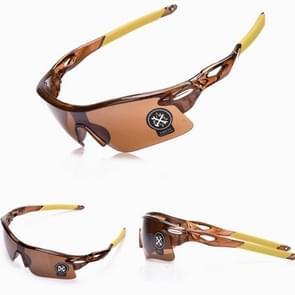 Explosieveilig buiten fietsen sport Sunglasses(Brown+Brown)