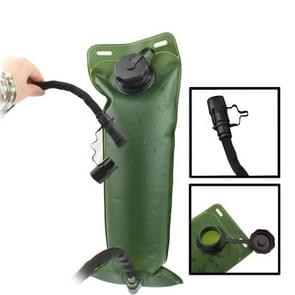 Outdoor Hiking Camping Army Green 3L Water Bag with Tube