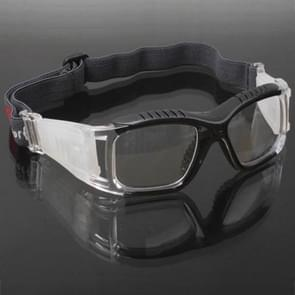 Wrap bril sport bril Eyewear voor basketbal / voetbal spel (zwart)