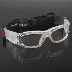 Wrap bril sport bril Eyewear voor basketbal / voetbal spel (transparant)