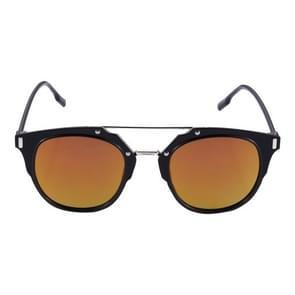 UV400 UV bescherming metaal + PC Frame AC Lens zonnebril (zwart + rood)