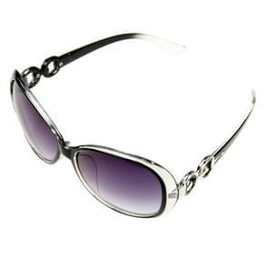 Retro UV400 UV bescherming PC Frame AC Lens zonnebril (zwart + kleurovergang zwart)