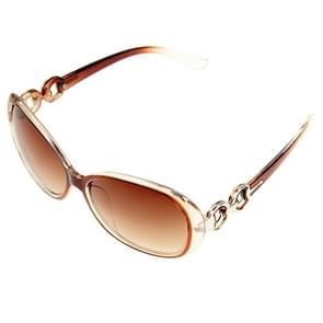 Retro UV400 UV bescherming PC Frame AC Lens Sunglasses(Coffee)