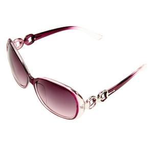 Retro UV400 UV bescherming PC Frame AC Lens Sunglasses(Purple)