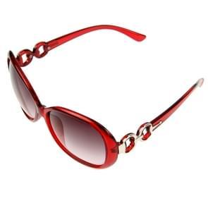 Retro UV400 UV bescherming PC Frame AC Lens zonnebril (Wind rood)