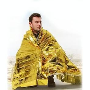 Compacte lichtgewicht Aluminiumhoudend winddicht waterdicht noodhoeslen deken Body Wrap Survival Sheet voor buiten 140 x 210cm