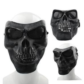 High Intensity Terrifying Evil Facepiece Skeleton Anti BB Bomb Tactical Face Mask with Elastic Bands (Black)