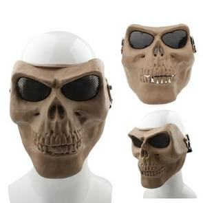 High Intensity Terrifying Evil Facepiece Skeleton Anti BB Bomb Tactical Face Mask with Elastic Bands (Brown)