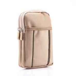 Universele multifunctionele 6.3 Inch dubbele Lattice twee gekleurde Polyester Pearl materiaal opslag taille Packs / taille Bag / Hiking Bag / Camping Bag for iPhone X & 8 Plus & 7 & 7 Plus & iPhone 6 Plus & 6s Plus  Galaxy S9 + & S9 & Opmerking 8 & S8 & S