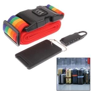 3 in 1 reis Security Kit terugstelbare combinatiehangslot Set sloten + riem + ID Tag