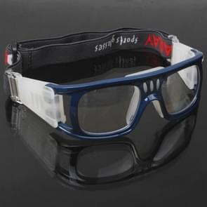 Wrap Goggles Sports Glasses Eyewear for Basketball / Soccer Game (Blue)