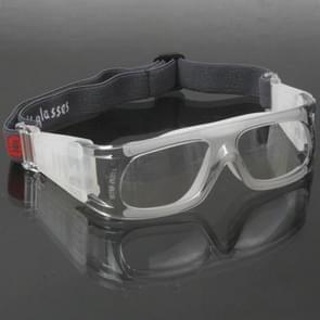 Wrap Goggles Sports Glasses Eyewear for Basketball / Soccer Game (Grey)