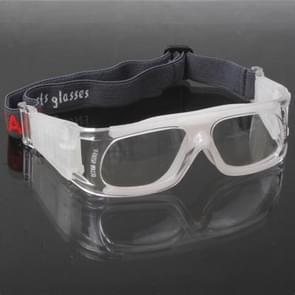 Wrap Goggles Sports Glasses Eyewear for Basketball / Soccer Game (White)