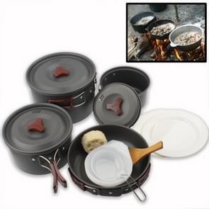 Buiten Camping Ultra lichtgewicht 9 delige Kookwaren stapelbare Set