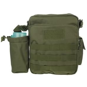 Military Waterproof High Density Strong Nylon Fabric Shoulder Bag with Kettle Bag (Army Green)