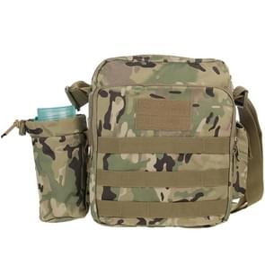 Military Waterproof High Density Strong Nylon Fabric Shoulder Bag with Kettle Bag (Camouflage)
