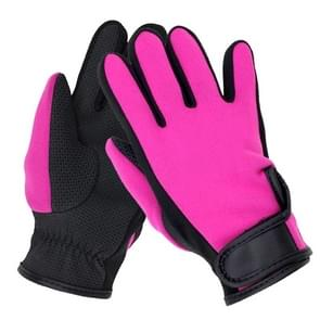 NDE-6 Neoprene Swimming Diving Equipment Surfing Skid Gloves(Magenta)