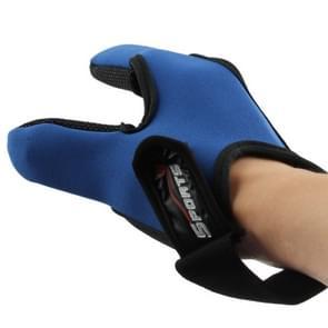 Hengelsport speciale twee vingers Gloves(Blue)
