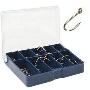 3# 12 # 70-80 stuks (1 doos) tien raster Bar Hook Fishing Hooks met gat (donkerblauw)