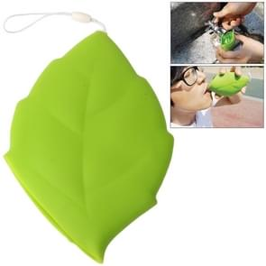 Silicon Gel Leaf Shaped Drinking Cup(Green)