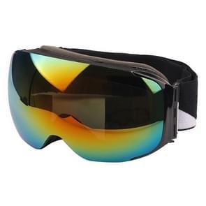SG-181 Multi-color Double Magnetic Lens Anti-fog Skate Ski Snowboard Goggles with Adjustable Non-slip Strap(Black)