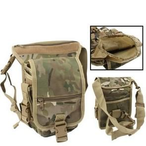 Military Army Tactical Multi-Layered Nylon Leg & Waist Pouch Carrier Bag with 2 Magazine Pouches for Outdoor Activity(Yellow)
