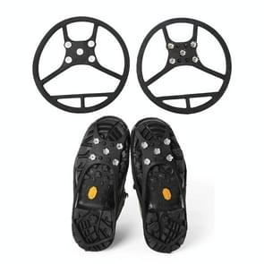 Round Shape Magic Spike Anti-slip Soles Crampon (2 pcs in one packaging the price is for 2 pcs )(Black)