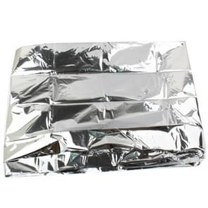 Compact lichtweight Aluminized Windproof Emergency Blanket (Afmeting: 130x210cm)(zilver)
