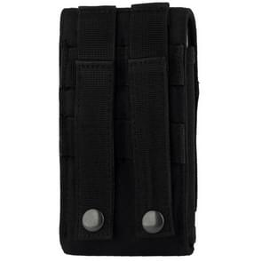 Stylish Outdoor Water Resistant Fabric Cell Phone Case  Size: approx. 17cm x 8.3cm x 3.5cm(Black)