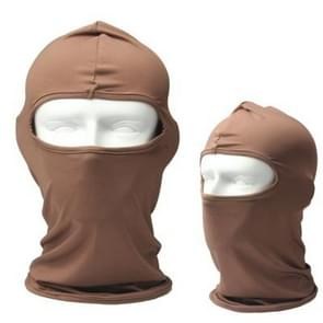 Outdoor One Hole Face Mask(Brown)