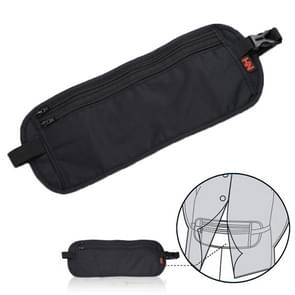 Multifunctional Close-fitting Anti-theft Multifunctional Waist Bag Pack Internality Bag(Black)