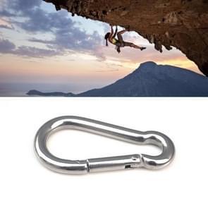 M5 Stainless Steel Carabiner Spring Hook Multi-tool Mountaineering Buckle Lock Camping Hook Rope  Inner Diameter: 4.9mm