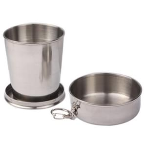 Stainless Steel Retractable Outdoor Cup  Size: 85 x 72 x 72 mm (Big)