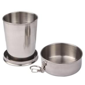 Stainless Steel Retractable Outdoor Cup  Size: 50 x 50 x20 mm (Small)