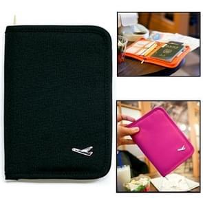 Multifunctionele paspoort tas / opslag pakket tas voor Travel(Black)