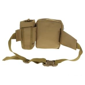 Outdoor Waist Bag with Water Bottle Pouch(Khaki)