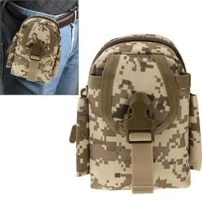 Multi-function High Density Strong Nylon Fabric Waist Bag / Camera Bag / Mobile Phone Bag  Size: 9 x 14.5 x 6cm (Camouflage)