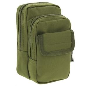 Multi-function High Density Strong Nylon Fabric Waist Bag / Camera Bag / Mobile Phone Bag  Size: 9.5 x 18.5 x 8cm (Army Green)