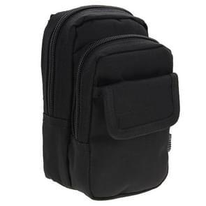 Multifunctionele hoge dichtheid sterk weefsel taille nylontas / Camera Bag / gsm zak  grootte: 9.5 x 18.5 x 8cm(Black)