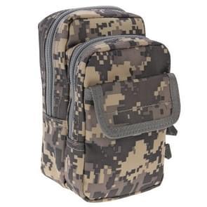 Multifunctionele hoge dichtheid sterk weefsel taille nylontas / Camera Bag / gsm zak  grootte: 9.5 x 18 5 x 8 cm (grijs Camouflage)